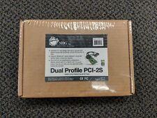 SIIG JJ-P20211-S6 DUAL PROFILE PCI-2S 16550 2-port RS232 Serial I/O Card