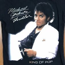 Vintage Michael Jackson Thriller T Shirt S M King of Pop White Suit Cotton Black