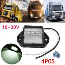 4x 3 LED License Number Plate Light Lamp Truck Ute Trailer Caravan Lorry 12V/24V