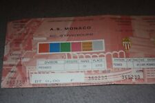 Ticket )) ASM MONACO V STRASBOURG )) saison 1998/1999