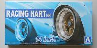"1/24 Racing Hart 4H 14"" Tire Wheel Set AOSHIMA CAR MODEL ACCESSORY"