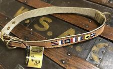 "Zeppelin Products Dog Collar Zep Pro Leather XXL 23-27"" Large Dog Boating Theme"