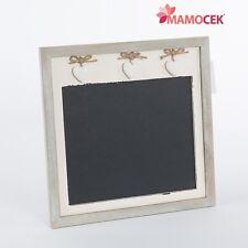 lavagna lavagnetta memo board bianca cuori cm36x36 legno anticato shabby cucina
