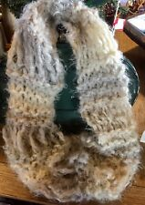 Scrumptiously Soft Dropped Stitch Hand Knitted Cowl