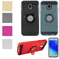 Samsung Galaxy J3 2018 SMJ337 Rotating Ring Stand Hybrid Magnet Mount Ready Case