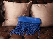Genuine Biba Ladies Fringed Leather & Suede Evening Bag/Handbag/Clutch Cute!