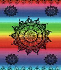 Serviette de plage Drap de bain 2 places Mandala multicolore Jacquard double XXL