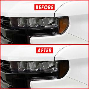 FOR 19-21 Chevy Silverado Headlight Side Marker Amber Delete Smoke Vinyl Tint