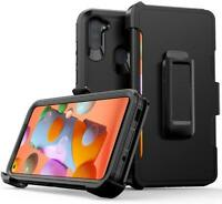For Samsung Galaxy A11 Heavy Duty Hard Protector Shield Case Holster BELT Clip