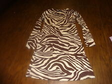 BOUTIQUE FLOWERS BY ZOE S SMALL ZEBRA BROWN PRINT DRESS GIRLS
