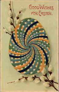 Easter Mechanical Spinner Egg c1910 Postcard - CLAPSADDLE??? #1