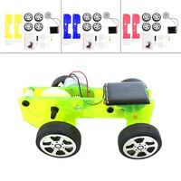 Mini Funny Solar Powered Toy DIY Car Kit Children Educational Gadget Hobby F7
