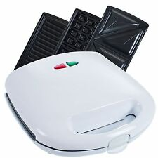 Chef Buddy 82-Sw81 3-in-1 Sandwich Panini Press and Waffle Maker Iron