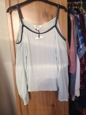 Baby Blue Cold Shoulder Long Sleeve Top Size 12 Savannah Miller At Debenhams
