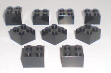 JEU JOUET ENFANT Personnage LEGO * Lot 9 BRIQUES 2 X 2 - NOIR  * !!