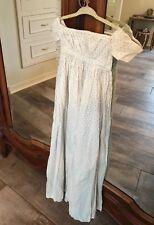 Antique Doll Dress Christening Dress Off The Shoulder Wonderful Child Size