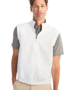 Johnnie-O Del Vest men's sz 2XL Carolina Blue/White Golf NWT 1/4 Zip $98 MSRP