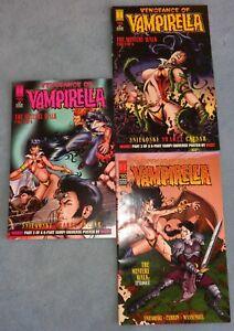 "3 ""Vengeance of Vampirella"" Comic Books By Harris! Excellent! Lot A"