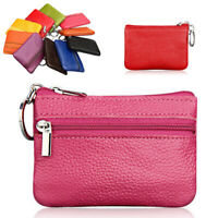 Portable Zipper Key Pack PU Leather Coin Purse Card Wallet Clutch Mini Bag Women