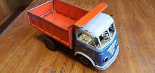 Seltenes Blechspielzeug DAF Kipper Dumper blau GAMA 25cm Sammlungsauflösung 50er