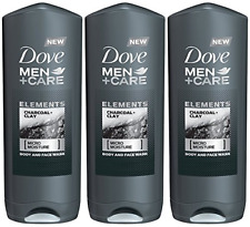 Dove Men + Care Elements Body Wash, Charcoal and Clay, 13.5 Ounce� Pack of 3