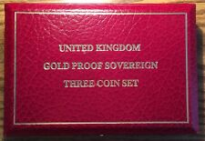 United Kingdom Gold Proof Sovereign 3 Coin Collection Set Mint Box No Coins