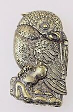 OWL BIRD VESTA BRASS VINTAGE MATCH SAFE
