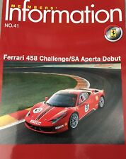 Lot 3 X Magazines Ferrari Club Of Japan Member's (not Brochure)