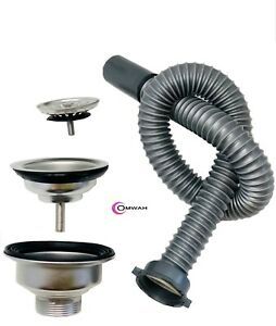 Salon Shampoo Bowl Complete Shampoo Bowl Drainage Assembly and Flex Pipe Drain H