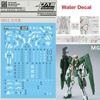DL Water Stickers Decal GN12 Kit for Bandai MG 1/100 GN-002 Gundam Dynames Model