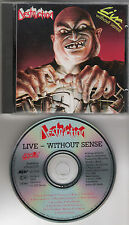 "DESTRUCTION original CD ""Live without sense"" 1989 on Steamhammer"