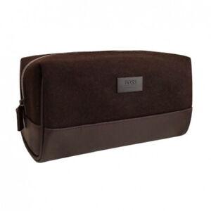 Hugo Boss Dark Brown Wash Bag / Toiletry / Shaving Bag