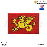 WESSEX England County Flag Embroidered Iron On Sew On Patch Badge For Clothes