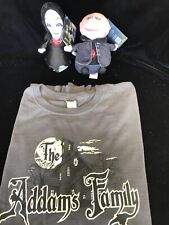 Lot 3~Addams Family Plush Singing Morticia & Uncle Fester Squeezer  Lg L/S Tee