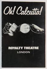 Oh Calcutta Program Royalty Theatre London A Revue with Music Circa 1970s