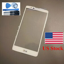 Front Outer Lens Glass screen white for LG Stylo 2 plus Stylo2 Plus MS550 +tools