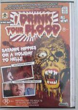 I DRINK YOUR BLOOD dvd REGION 0 horror UNCUT satanic hippies RARE umbrella CULT