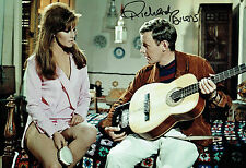 Richard BRIERS SIGNED Autograph 12x8 Photo with wife Ann DAVIES AFTAL COA