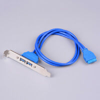 USB 3.0 20 pin to 2 port female adapter cables dual port USB 3.0 cable lf