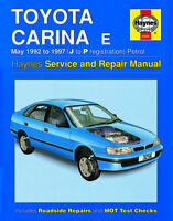 Toyota Carina 1.6 1.8 2.0 Petrol 1992 - 1997 Haynes Manual 3256 NEW