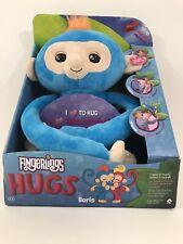 Fingerlings HUGS Boris Blue Advanced Interactive Plush 40+ Sounds NEW IN BOX