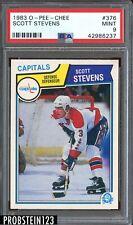 1983 O-Pee-Chee OPC Hockey #376 Scott Stevens Washington Capitals PSA 9 MINT