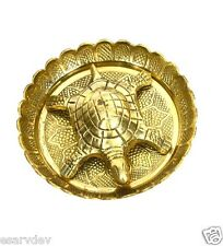 Brass Tortoise with Plate - ENERGIZED PURE BRASS WISH FULFILLING TORTOISE TURTLE