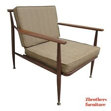 Vintage Danish Modern Metal Low Slung Lounge Chair