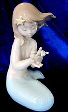 NAO BY LLADRO #1368 JEWEL OF THE SEA BRAND NIB MERMAID WITH PEARL FANTASY LARGE