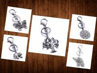 Clip-on Keychain KeyRing HandBag Purse Charm Pendant Zipper Pull -Various Styles
