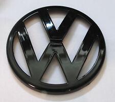 GLOSS BLACK FRONT BUMPER BONNET GRILLE BADGE EMBLEM LOGO VW GOLF MK4 1999 - 2004