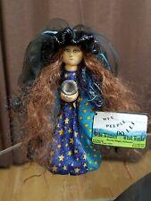 "Wee Peeple Soft Sculptured Doll Kandra Niagra ""Wise Woman"" Wood base."