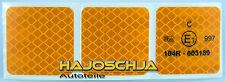 3 Stück Reflektorfolie gelb 5 x 5 cm  Reflexfolie 3M Reflektorband