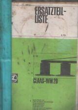 Claas Mähwerk WM20 Parts Manual
